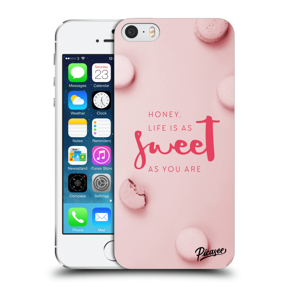 Picasee silikonový průhledný obal pro Apple iPhone 5/5S/SE - Life is as sweet as you are