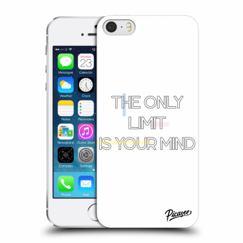 Picasee silikonový průhledný obal pro Apple iPhone 5/5S/SE - The only limit is your mind