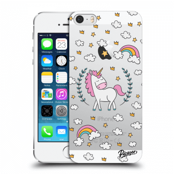 Obal pro Apple iPhone 5/5S/SE - Unicorn star heaven