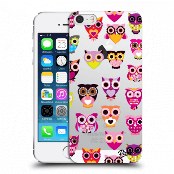 Obal pro Apple iPhone 5/5S/SE - Owls