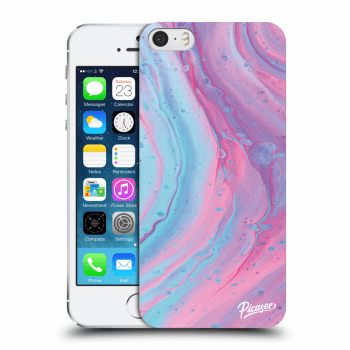Obal pro Apple iPhone 5/5S/SE - Pink liquid