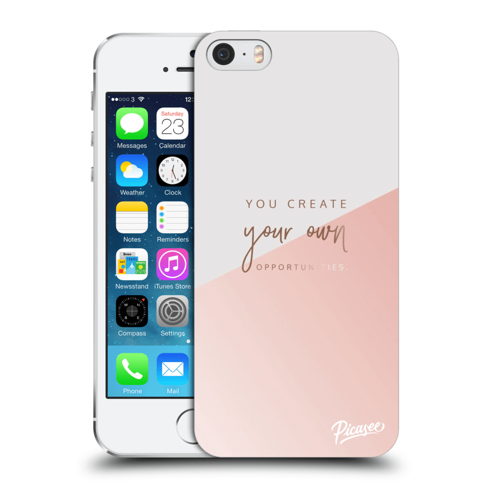 Picasee silikonový průhledný obal pro Apple iPhone 5/5S/SE - You create your own opportunities