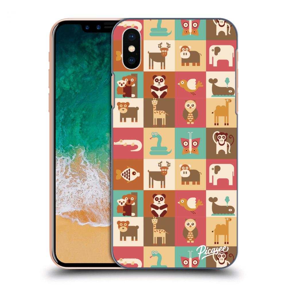 Picasee silikonový průhledný obal pro Apple iPhone X XS - Animals ... 7bd7d3779a4