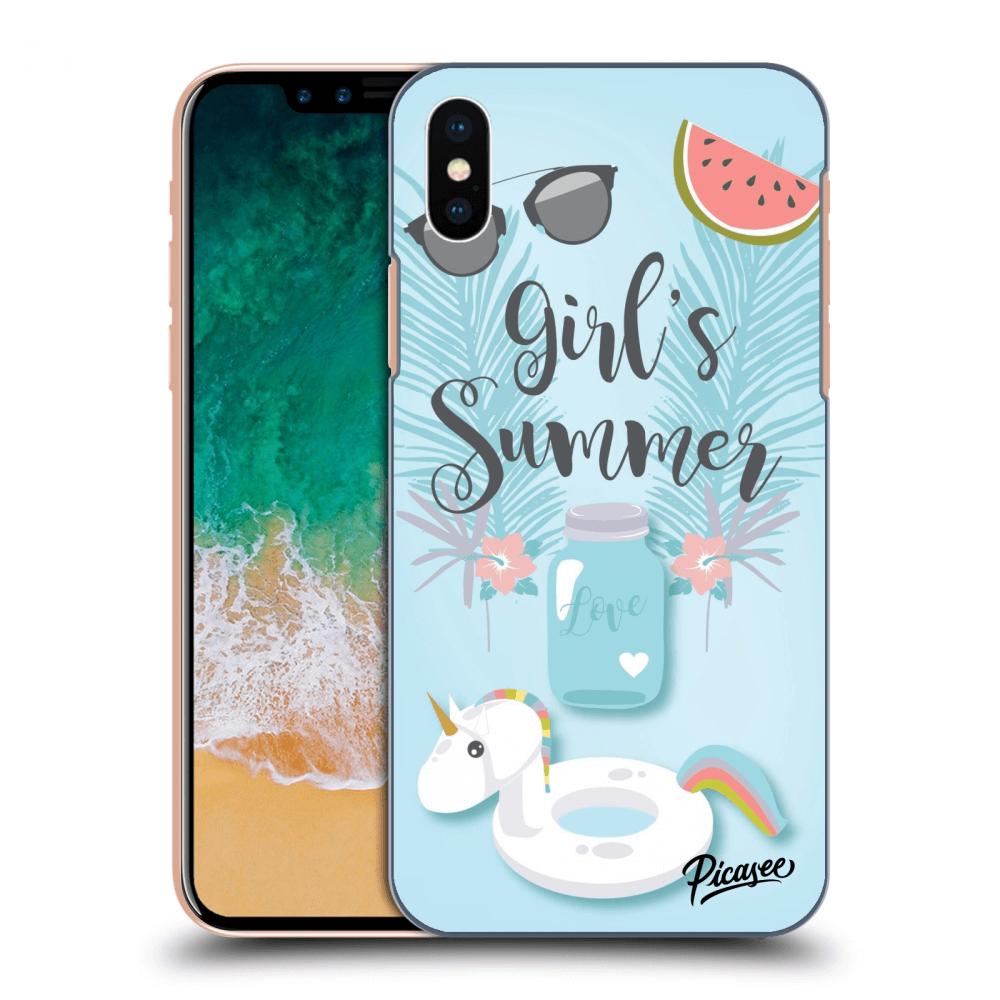 Picasee silikonový průhledný obal pro Apple iPhone X XS - Girls Summer 6c2f76c5bb0
