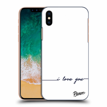 Obal pro Apple iPhone X/XS - I love you