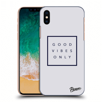 Obal pro Apple iPhone X/XS - Good vibes only