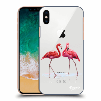 Obal pro Apple iPhone X/XS - Flamingos couple