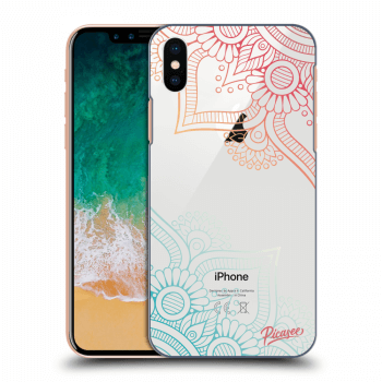 Obal pro Apple iPhone X/XS - Flowers pattern