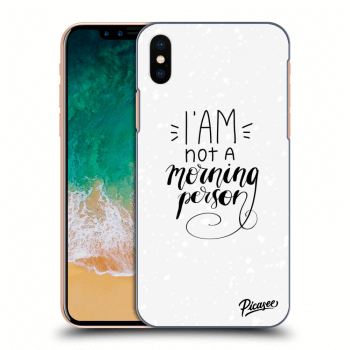 Obal pro Apple iPhone X/XS - I am not a morning person