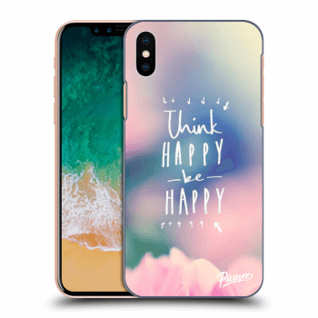 Obal pro Apple iPhone X/XS - Think happy be happy