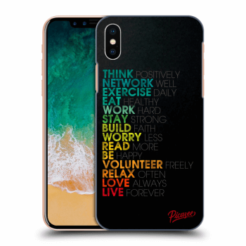 Obal pro Apple iPhone X/XS - Motto life