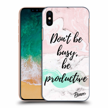 Obal pro Apple iPhone X/XS - Don't be busy, be productive