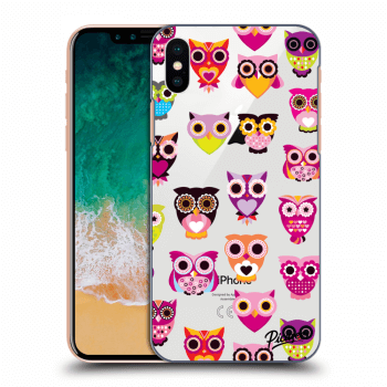 Obal pro Apple iPhone X/XS - Owls