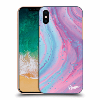 Obal pro Apple iPhone X/XS - Pink liquid