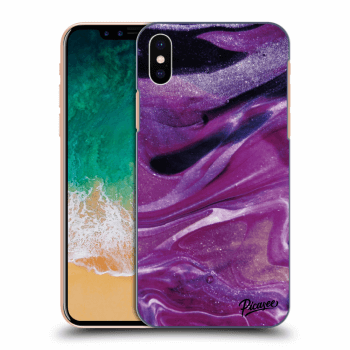 Obal pro Apple iPhone X/XS - Purple glitter