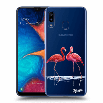 Obal pro Samsung Galaxy A20e A202F - Flamingos couple