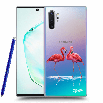 Obal pro Samsung Galaxy Note 10+ N975F - Flamingos couple