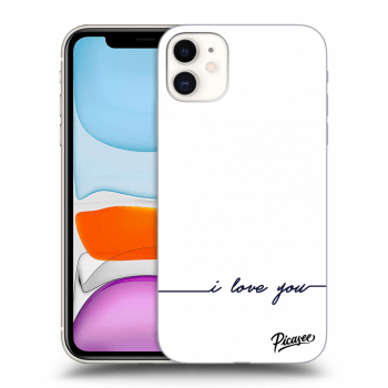 Obal pro Apple iPhone 11 - I love you