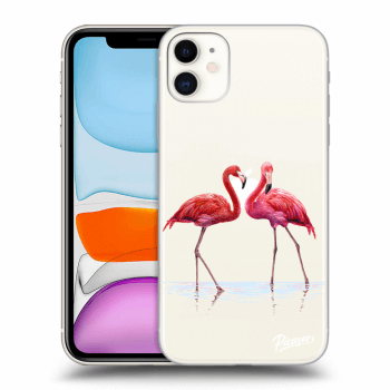 Obal pro Apple iPhone 11 - Flamingos couple