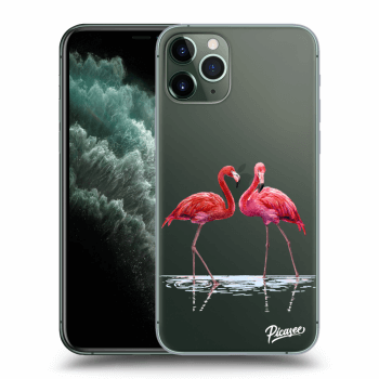 Obal pro Apple iPhone 11 Pro Max - Flamingos couple