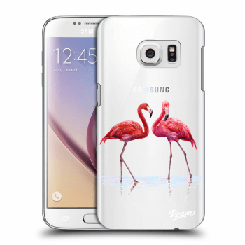 Obal pro Samsung Galaxy S7 G930F - Flamingos couple