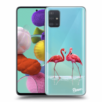 Obal pro Samsung Galaxy A51 A515F - Flamingos couple
