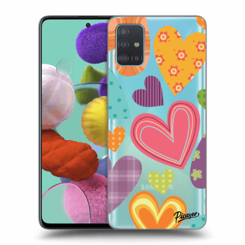 Obal pro Samsung Galaxy A51 A515F - Colored heart