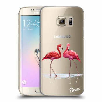 Obal pro Samsung Galaxy S7 Edge G935F - Flamingos couple