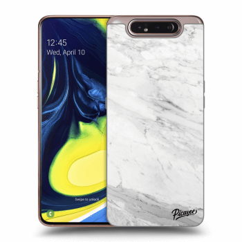 Obal pro Samsung Galaxy A80 A805F - White marble