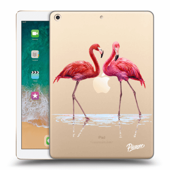 Obal pro Apple iPad 2017 (5. gen) - Flamingos couple