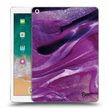 Obal pro Apple iPad 2017 (5. gen) - Purple glitter