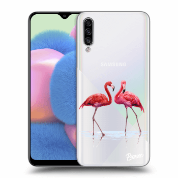 Obal pro Samsung Galaxy A30s A307F - Flamingos couple