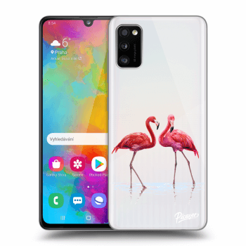 Obal pro Samsung Galaxy A41 A415F - Flamingos couple