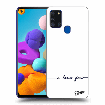 Obal pro Samsung Galaxy A21s - I love you