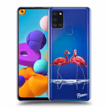 Obal pro Samsung Galaxy A21s - Flamingos couple