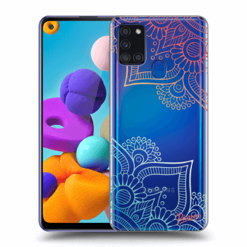 Obal pro Samsung Galaxy A21s - Flowers pattern