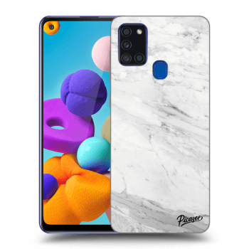 Obal pro Samsung Galaxy A21s - White marble