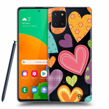 Obal pro Samsung Galaxy Note10 Lite N770F - Colored heart