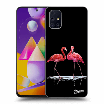 Obal pro Samsung Galaxy M31s - Flamingos couple