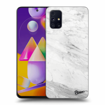 Obal pro Samsung Galaxy M31s - White marble