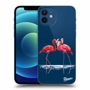 Obal pro Apple iPhone 12 - Flamingos couple