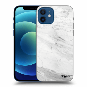 Obal pro Apple iPhone 12 - White marble
