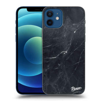 Obal pro Apple iPhone 12 - Black marble
