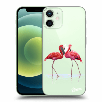 Obal pro Apple iPhone 12 mini - Flamingos couple