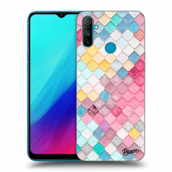 Obal pro Realme C3 - Colorful roof