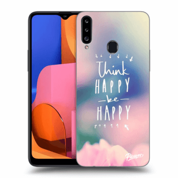 Obal pro Samsung Galaxy A20s - Think happy be happy