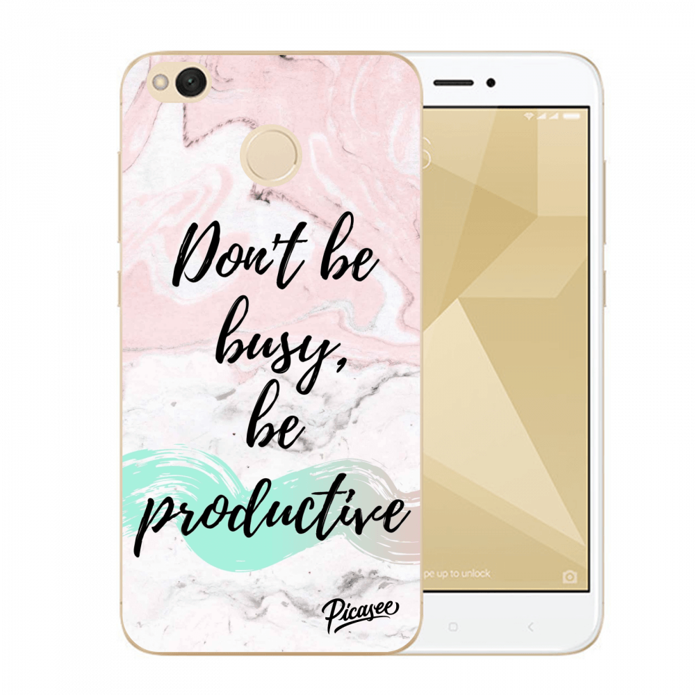Picasee silikonový průhledný obal pro Xiaomi Redmi 4X Global - Don't be busy, be productive