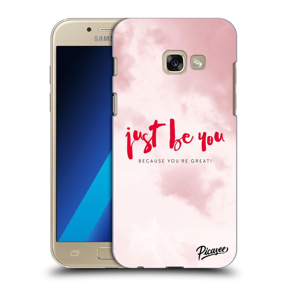 Picasee silikonový průhledný obal pro Samsung Galaxy A3 2017 A320F - Just  be you 41043a49c0d