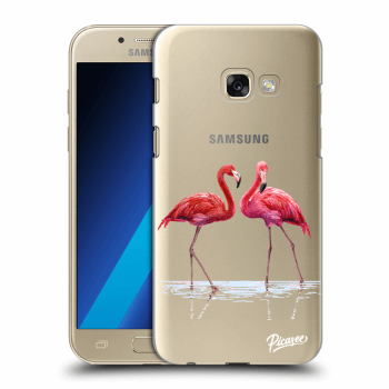 Obal pro Samsung Galaxy A3 2017 A320F - Flamingos couple