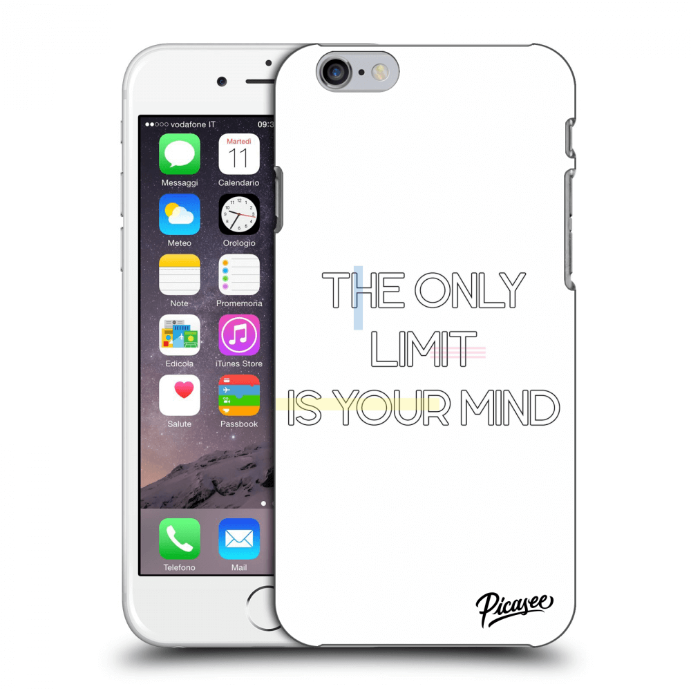 Picasee plastový průhledný obal pro Apple iPhone 6/6S - The only limit is your mind